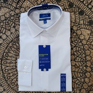 Apt. 9 Shirts - Apt. 9 Men's White Extra Slim Fit Dress Shirt